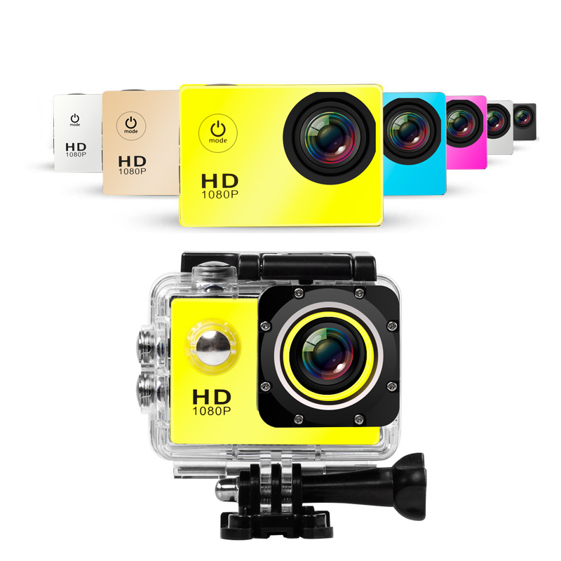 Galleria fotografica 1080P HD Outdoor Mini Sport Action Camera Waterproof Cam DV gopro style go pro with Screen Full Color Water resistant