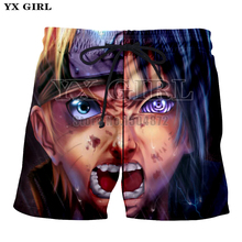 YX Girl New Fashion Anime Shorts 3d Printed Naruto Summer Short For Men Women Cool Casual Shorts Beach Shorts Trousers Fitness цена