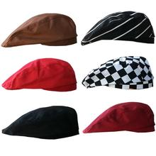 NewMUQGEW Especially Stylish Men Women Chef Hat Catering Baker Kitchen Cook  Duckbill Beret Golf Caps gorros 509a6c76ceb