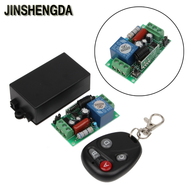 цена на JINSHENGDA Remote Control AC 220 V 1CH 10A RF Wireless Remote Control Switch 4 Receiver + 2 Transmitter