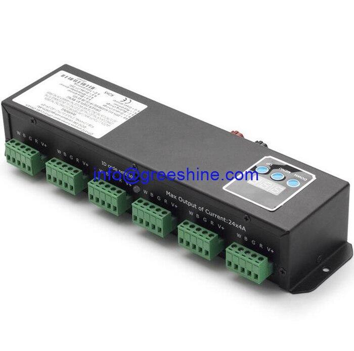 12-24 V 24 canaux DMX 512 contrôleur pour rvb lumières RGBW mur LED rondelle lumière DMX Decorder livraison gratuite