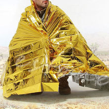 5pcs lot Outdoor WaterProof Emergency Survival Rescue Blanket Foil Thermal Space First Aid Gold Rescue Curtain