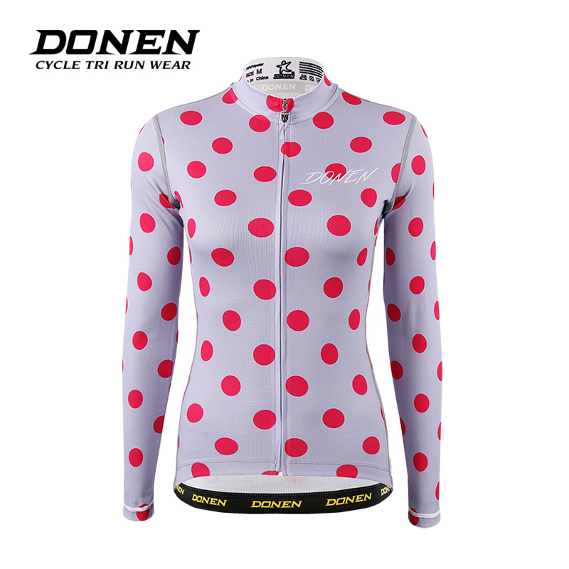 DONEN Spring Autumn Outdoor women Bike Bicycle cycling jacket COOLDRY Long Sleeves MTB Clothing Shirts Wear Bike jacket life on track cycling clothings bike bicycle jerseys long lasting wolf graphic women long sleeves ergonomic designs tops shirts