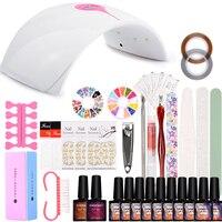 Nail Art Set 36W UV LED Lamp Dryer 12 Color Gel Nail Polish Set Kit Nail Tools Gel Varnish Lacquer Manicure Tools Kit