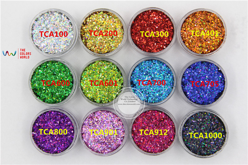 12 holographic colors Square shape 1MM Size Glitter sequins for nail art ,nail gel,makeup and DIY decoration Packing by poly bag