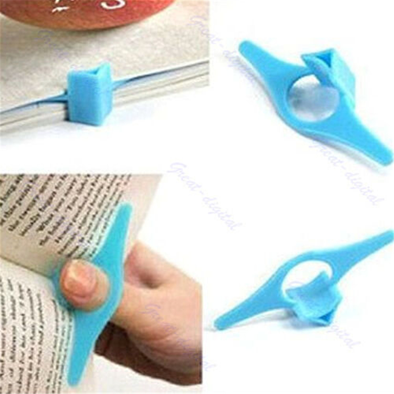 High Quality Multifunction Plastic Thumb Book Page Holder Convenient Book Marker ABS Bookmark