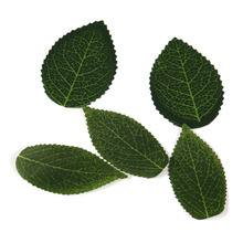 50pcs φύλλα πράσινα φύλλα τεχνητό λουλούδι για διακόσμηση γάμου DIY στεφάνι δώρο τραπεζαρία Scrapbooking τέχνη φαλλός λουλούδι
