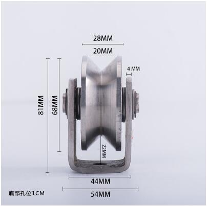 304 stainless steel V groove pulley for iron gate/slide wheel rollerfor swing/sliding gate with wheel+bracket height 81mm 3inch m75 750kgs pulley 304 stainless steel roller crown block lifting pulley factory direct sales all kinds of driving pulley