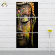 3 Pieces/set Buddha Wall Art Pictures Printed Canvas Painting Modern Home Decoration for Living Room