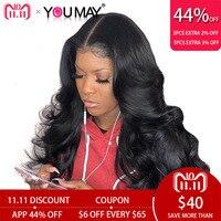 13x6 Синтетические волосы на кружеве натуральные волосы парики для Для женщин 250% плотность Бразильский объемной волны Синтетические волосы