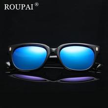 ROUPAI 2017 New Fashion Unisex Polarized Sunglasses Women Brand Designer Sun Glasses For Men Vintage Driving