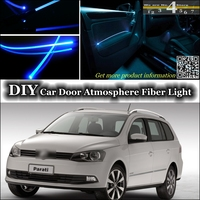 interior Ambient Light Tuning Atmosphere Fiber Optic Band Light For Volkswagen VW Gol Parati Pointer Saveiro Voyage G2 G3 G4 G5