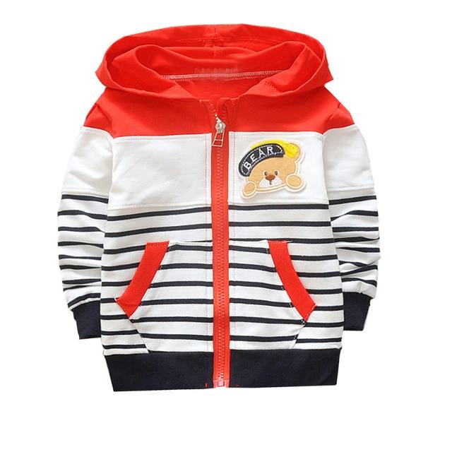 573165bd2f14 Casual Herbst Kinder Kinder Langarm Gestreiften Jungen Hoody Mit Kapuze  Jacken Strickjacke Baby Bebe Kleinkinder Outwear