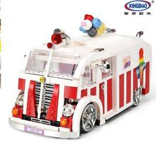 Xingbao 08004 Genuine 1000Pcs Technic Series The Ice Car Set Building Blocks Bricks Kids Educational Toy Model Gifts lepin 20055 1180pcs technic mechanical series the rescue vehicle set 42068 children educational building blocks bricks toy gift