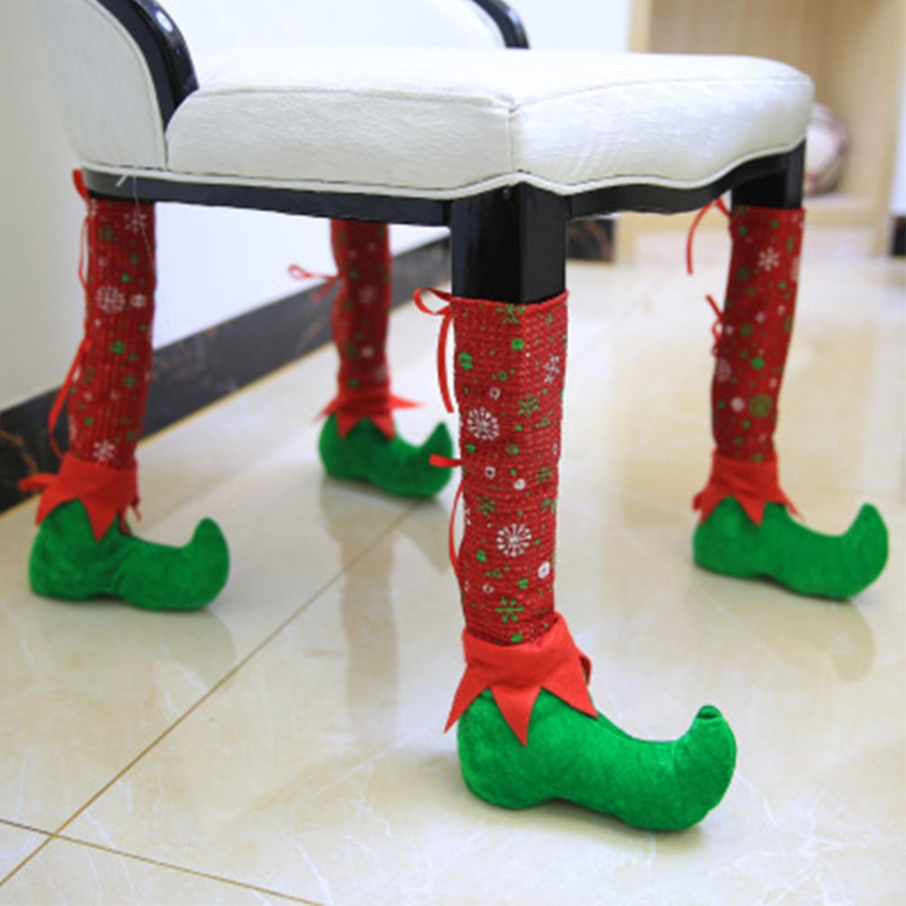 Chair Table Feet Cover Christmas Decorations Protective Cover Foot Sleeve