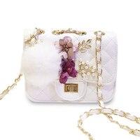 Мини шарик цветок сумки роскошные брендовые сумки женские сумки дизайнер розовый ромбовидная решетка Crossbody сумка для женщин 2017 SAC основной