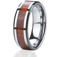 Wedding band dla mężczyzn biżuteria wolframu pierścień super jakości drewna wodoodporny never fade klasyczne USA projekt