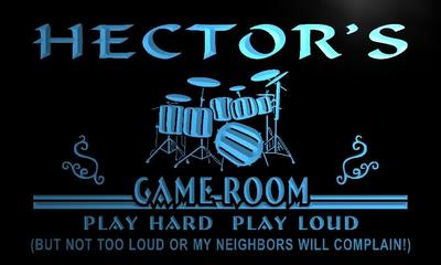 x0189-tm Hectors Game Room Lounge Custom Personalized Name Neon Sign Wholesale Dropshipping On/Off Switch 7 Colors DHL