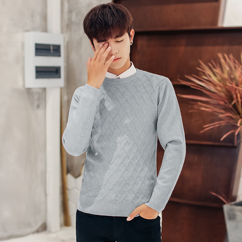 2019 Autumn men Casual wool sweaters Man Round Neck Rendering Crocheted Wire Knitting Unlined Upper Garment Fashion Dress Tide in Cardigans from Men 39 s Clothing
