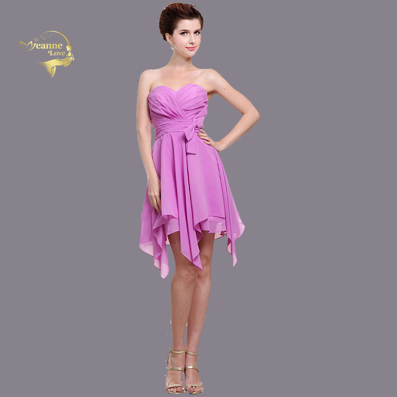 Pink   Cocktail     Dresses   Asymmetrical Skirt Strapless Party Frocks for Ladies Short Graduation   Dresses   Women Elegant Formal Gowns