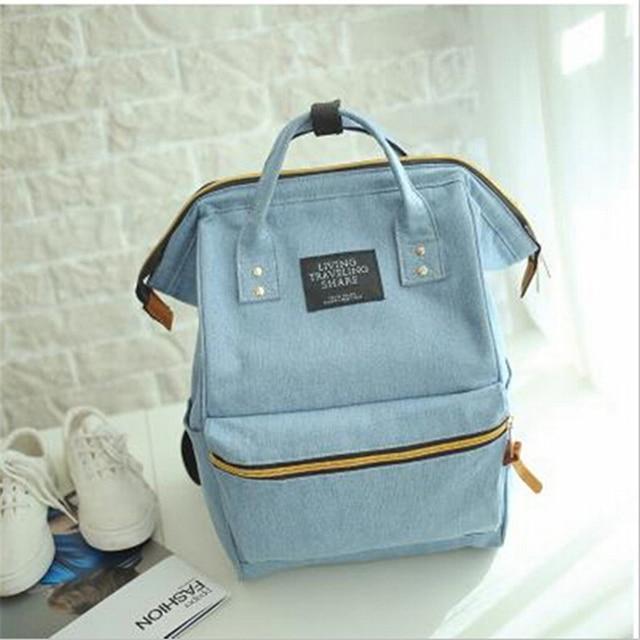 2017 Fashion Women Backpacks Denim School Bags For Teenagers Girls Shoulder Bag Travel Rucksack Bolsas Mochilas Femininas
