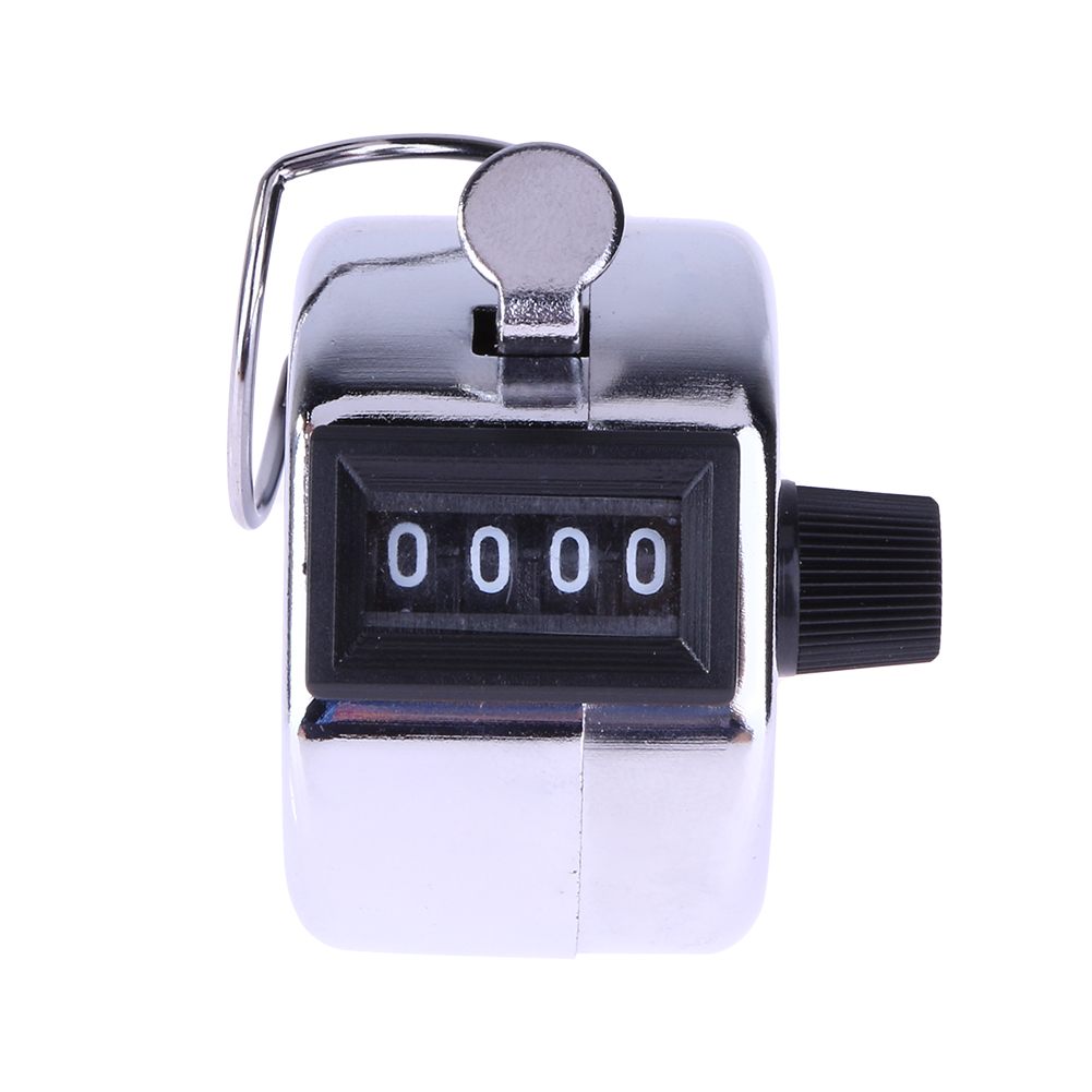 Mini Digital Hand Tally Counter 4 Digit Number Manual Hand Held Tally Counter Manual Counting Golf Clicker 0-9999
