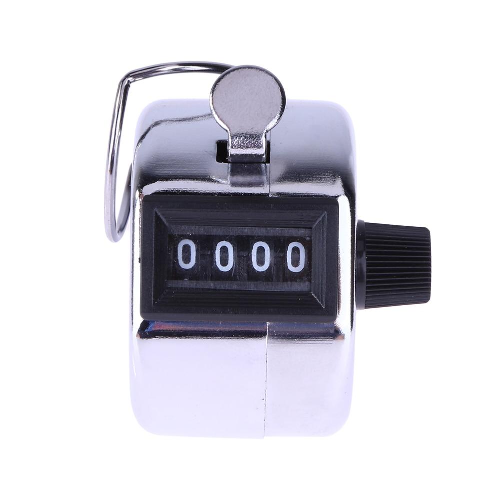 цена на Mini Mechanical Digital Hand Tally Counter 4 Digit Number Hand Held Tally Counter Manual Counting Golf Clicker 0-9999