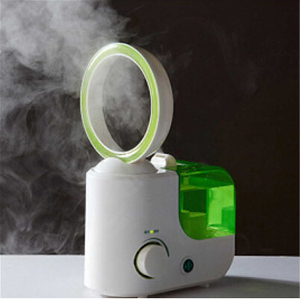 New design 110V 250V 25W House hold super mute air humidifier bladeless fan desk fans table fans with mist maker-in Humidifiers from Home Appliances    2