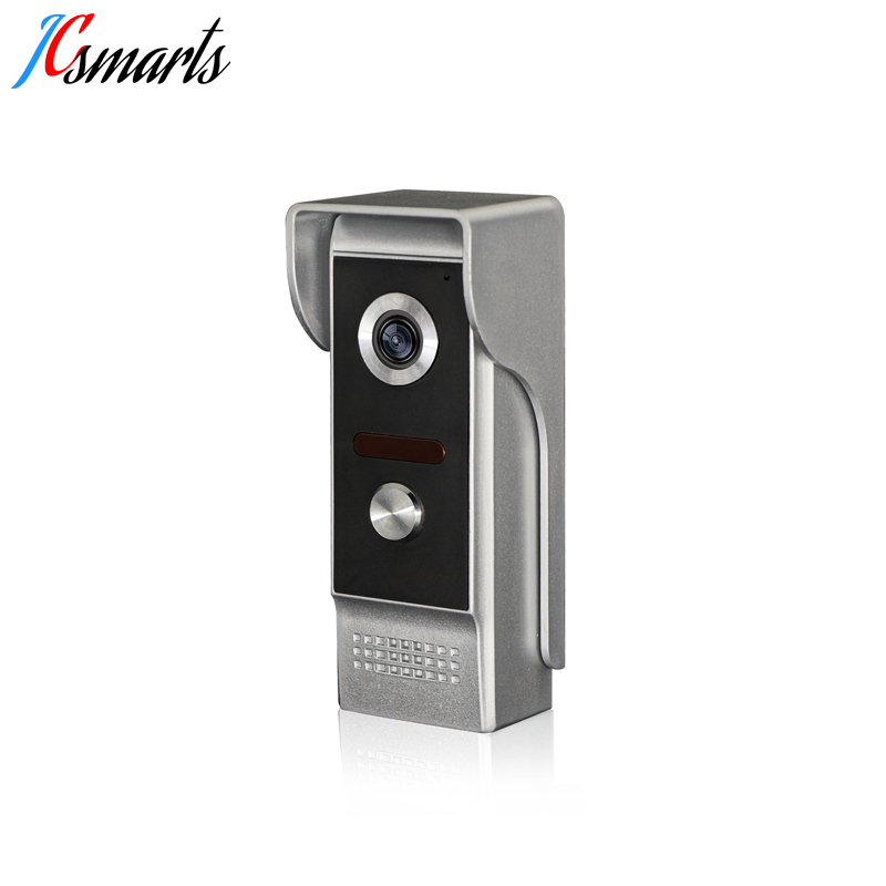 Jcsmarts 7 quot Monitor Video Doorbell Interfone Visual Intercom Peephole Video Portero Door Phone IR Infrared Camera Waterproof in Video Intercom from Security amp Protection