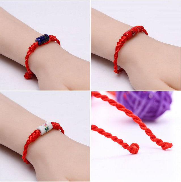 Zyr 23 Chinese Red String Retro Ceramics Bracelets Give Your Best Friend A Gift Free