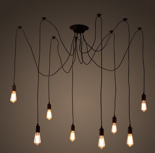 DIY Loft Style Lifting Rack Droplight Edison Pendant Light Fixtures Vintage Industrial Lighting For Dining Room Bar Hanging Lamp