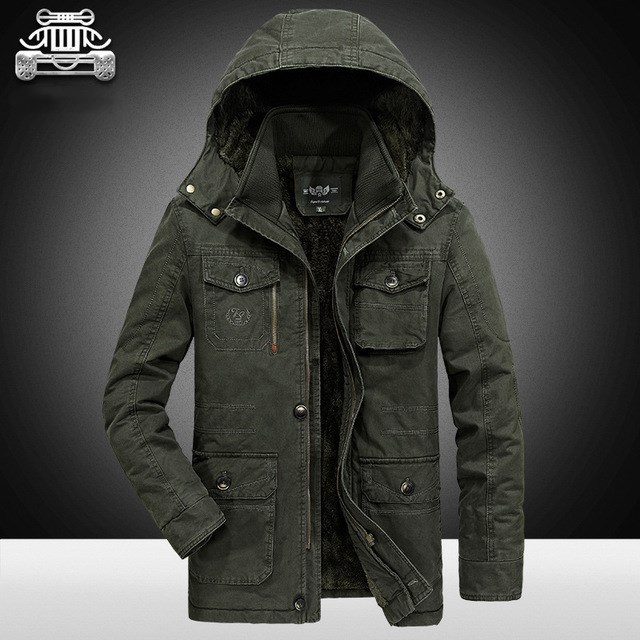 AFS ZHAN DI JI PU Large Size 8XL For 140KG Men Winter Jacket Warm Thicken Coats High Quality Parkas Men's Windbreak Outwear Male