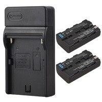 2 шт. 2600 mah NP-F550 NP-F570 Перезаряжаемые цифровой Batterias + стены Зарядное устройство для Sony NP F550 F570 NPF550 NPF570 Камера Батарея
