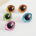 new arrvial 10pcs/lot 28x23mm trapezoid plastic safety toy eyes  + glitter paper + washer--color option