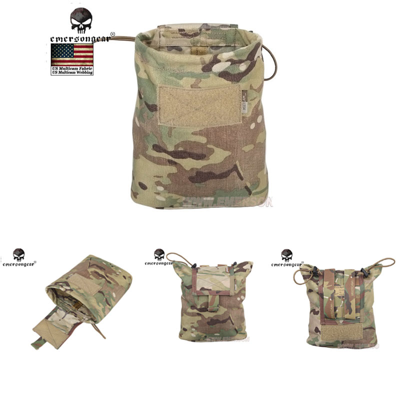 Emersongear Folding Magzine Recycling bags Tactical MOLLE Large Magazine Dump Pouch free shipping