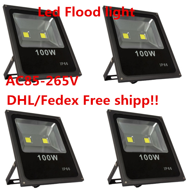 4pcs Outdoor Led Floodlight Lamp 100W LED Flood light Waterproof Led refletor Outdoor Spotlight exterior lighting AC85-265V ultrathin led flood light 100w led floodlight ip65 waterproof ac85v 265v warm cold white led spotlight outdoor lighting