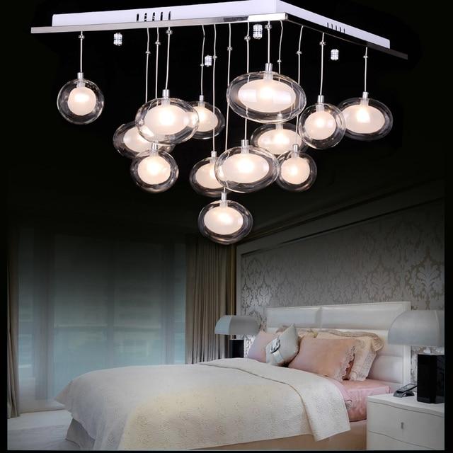 glazen bol lampen moderne led korte plafondverlichting ei lampen woonkamer lichten slaapkamer lamp hotel verlichting zzp73011a
