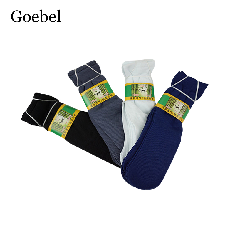 Goebel Men Stripe Socks Bamboo Fiber Breathable Summer Male Boat Socks Casual Comfortable Socks For Man 4pairs/lot