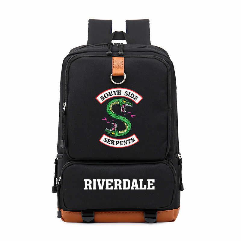 48e3f53a22 ... South Side Serpents Riverdale Snake Boy Girl Children School bag Women  Bagpack Teenagers Schoolbags Canvas Men ...