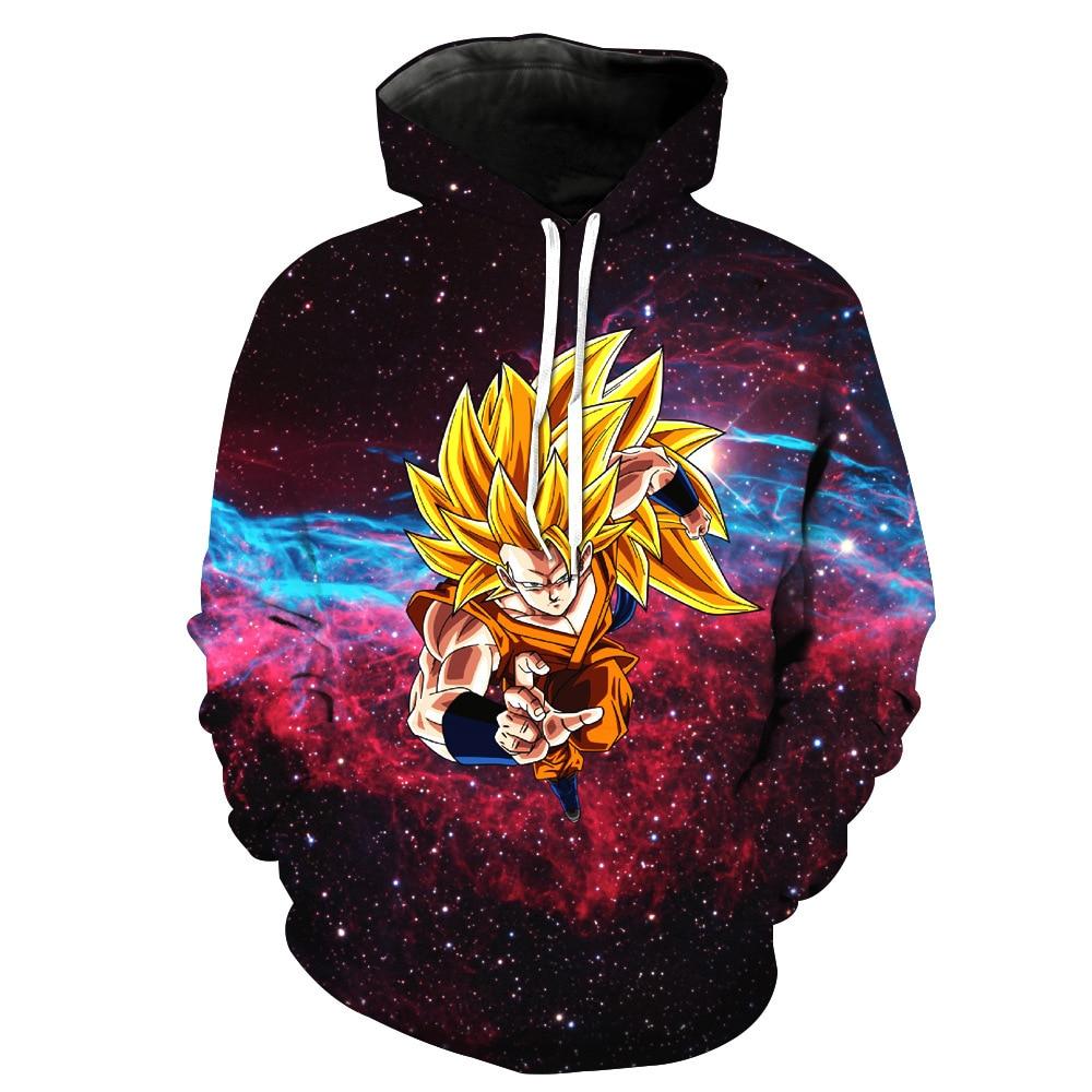 Sondirane Hot Sale 3D Cartoon Dragon Ball Z Hoodies Long Sleeve Casual Pullovers Fashion Men/women Sweats Tops Tracksuits 6XL