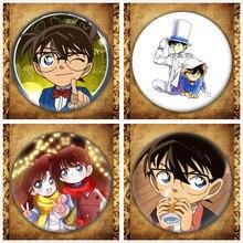 Japanese Anime Detective Conan Displat Badge Fashion Cartoon Case Closed Figure Kudou Shinichi Brooches Pin Jewelry Accessories