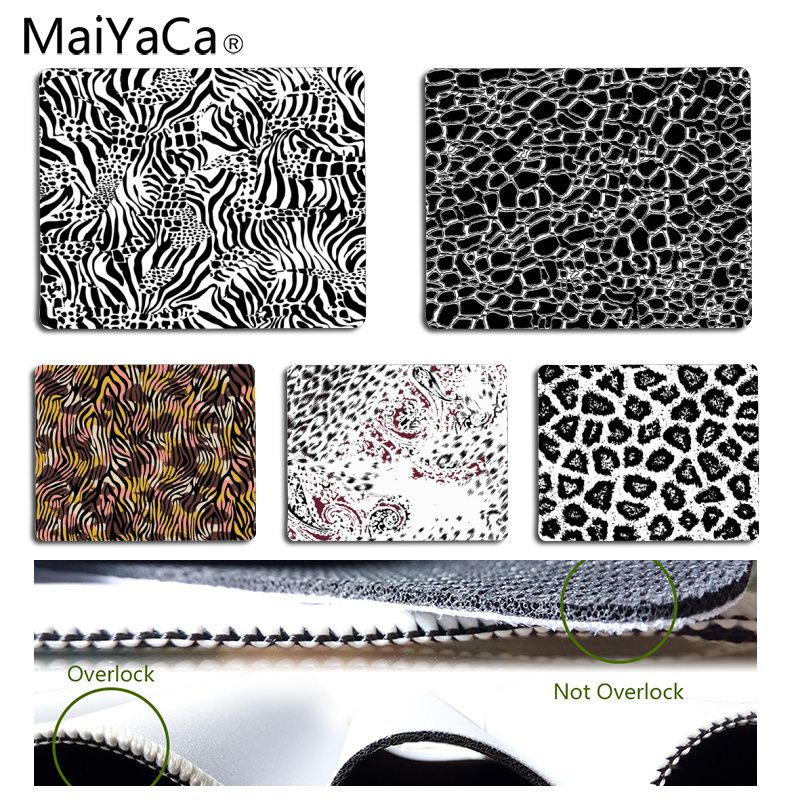 MaiYaCa Beautiful and fashion Leopard Print Customized laptop Gaming mouse pad Size for 18x22cm 25x29cm Rubber Mousemats
