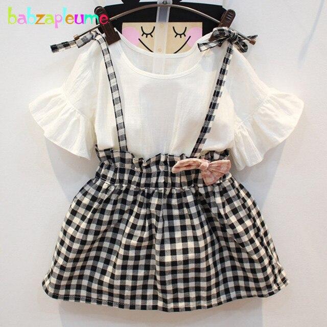 107ccb5ce864 babzapleume Summer Baby Girls Princess Dresses Toddler Clothes Plaid ...