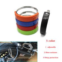 Akcesoria motocyklowe uniwersalny Fit 100MM-140MM Oval Protector wydechowy może pokryć do YAMAHA XJR1200 XJR1300 YZF-600 R6 YZF-R1 tanie tanio silikon odporny na wysokie temperatury Estelle Honda 0 cali w W M-8 do 0 2 kg Pierścień ochronny spalin