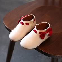 NEW FASHIONToddler Baby Girls Children Fashion Bowknot Sneaker Boots Zipper Casual Shoes(China)