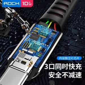 Image 5 - Rock 3 In 1 Usb kabel Voor Smart Mobiele Telefoon Microusb Type C Lader Kabel Voor Iphone Oplaadkabel Micro usb Charger Datum Cord