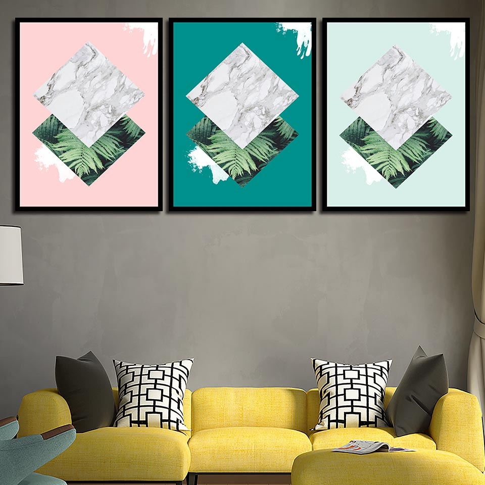 Hd Prints Painting Minimalist Poster Geometric Botany Wall