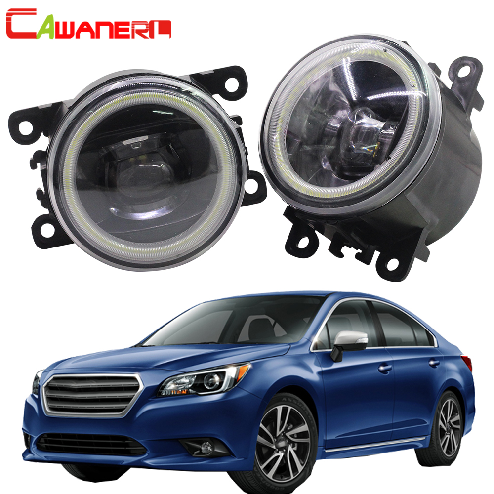 Cawanerl 2 Pieces Car LED Bulb 4000LM Front Fog Light Angel Eye Daytime Running Light DRL