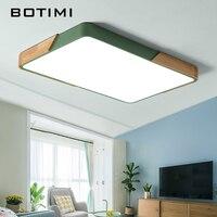 BOTIMI 220 светодиодный LED потолочные светильники Nordic стиль прямоугольник потолочная лампа для Гостиная Деревянный Кухня Освещение приспособл