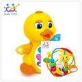 Brinquedo Bebe Chocalho Do Bebê Chocalhos Saudável Balle Bebe Eletronicos EQ Batendo Pato Amarelo Frete Grátis Huile Brinquedos 929 & 808
